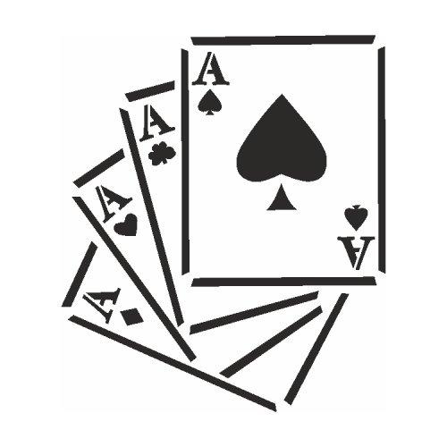 Samolepící šablony - Čtyři esa