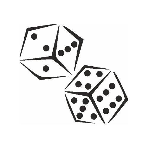 Samolepící šablony - Hrací kostky