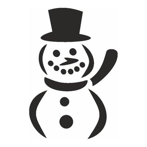Samolepící šablony - Sněhulák