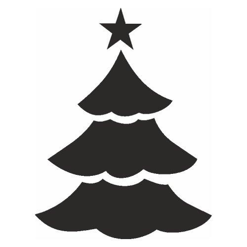 Samolepící šablony - Vánoční stromek