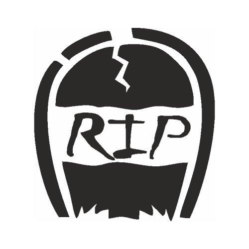 Samolepící šablony - R.I.P.