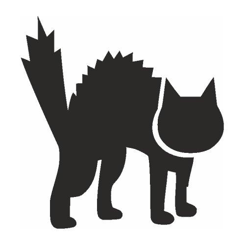 Samolepící šablony - Kočka