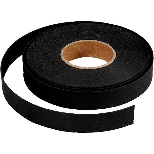 Pásky na pletení imitující kůži, černé