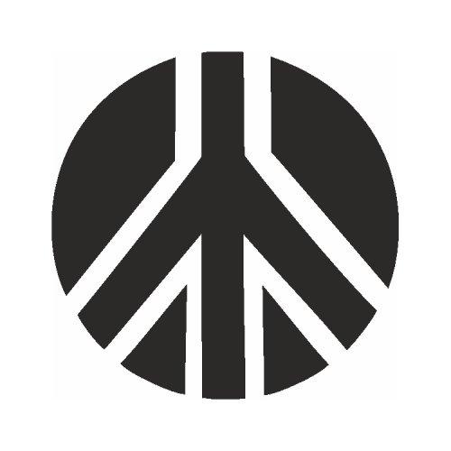 Samolepící šablony - Znak míru