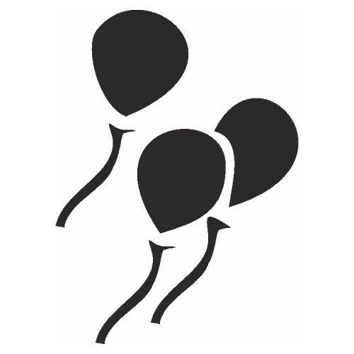 Samolepící šablony - Balónky