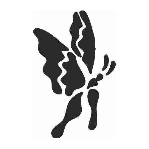 Samolepící šablony - Ohnivý motýl