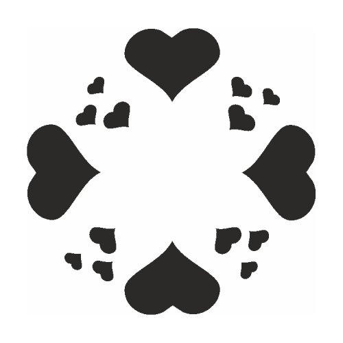 Samolepící šablony - Srdcový kruh