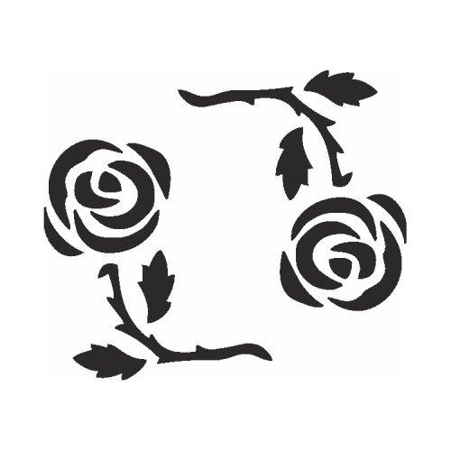 Samolepící šablony - Růžový kruh