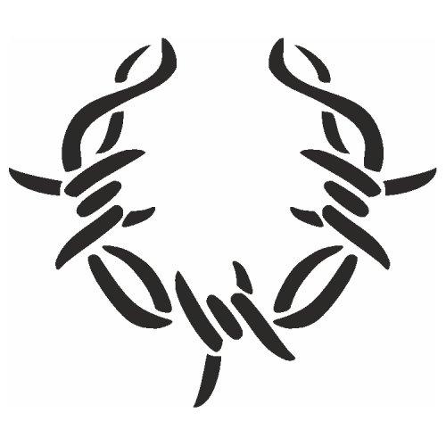 Samolepící šablony - Ostnatý drát Kruh