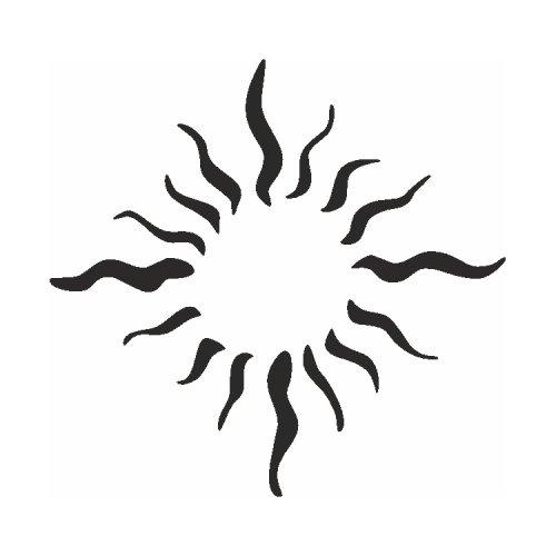 Samolepící šablony - Sluneční plameny