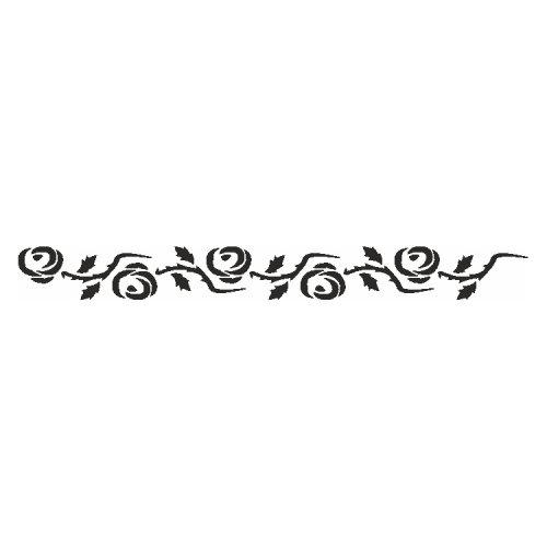 Samolepící šablony - Růžový pás