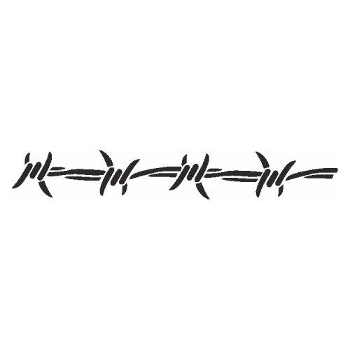 Samolepící šablony - Ostnatý drát