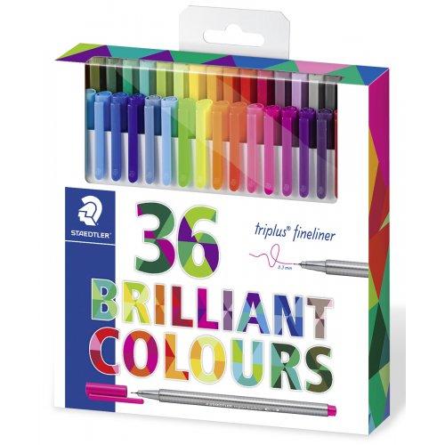 "Finelinery, sada ""Triplus"", 0.3 mm, 36 různých barev, STAEDTLER"
