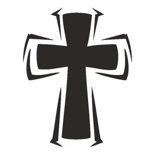 Samolepící šablony - Kříž I.
