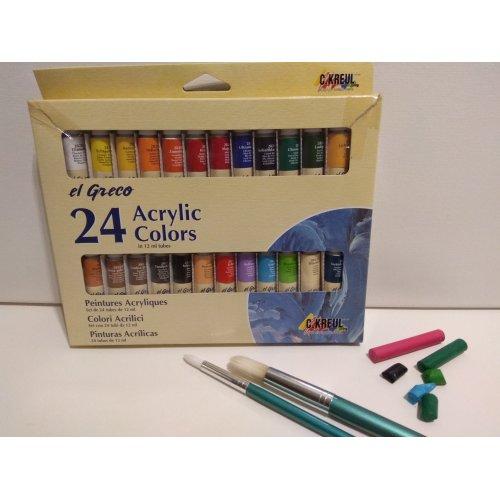 Akrylové a pastelové barvy