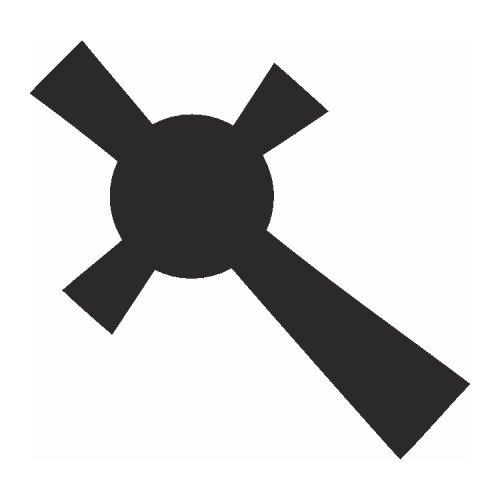 Samolepící šablony - Keltský kříž
