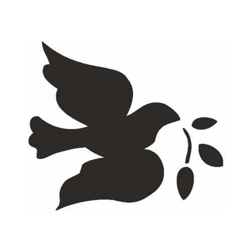 Samolepící šablony - Holubice míru