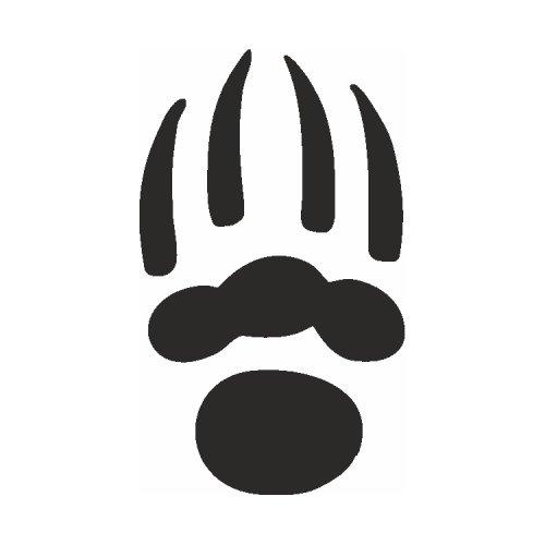 Samolepící šablony - Medvědí tlapa