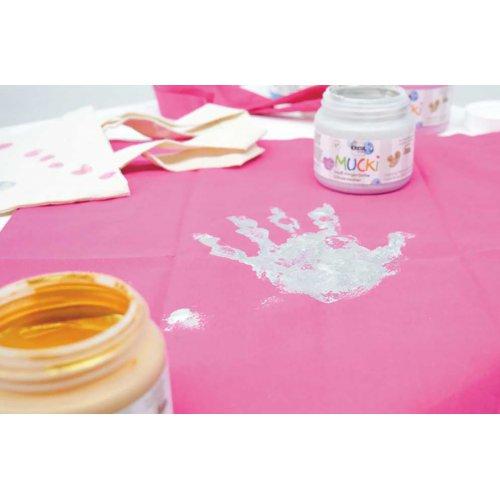 Prstová barva na textil MUCKI třpytivá zlatá 150 ml - MUCKI_Prstove_barvy_textil_trpytive_image2.jpg