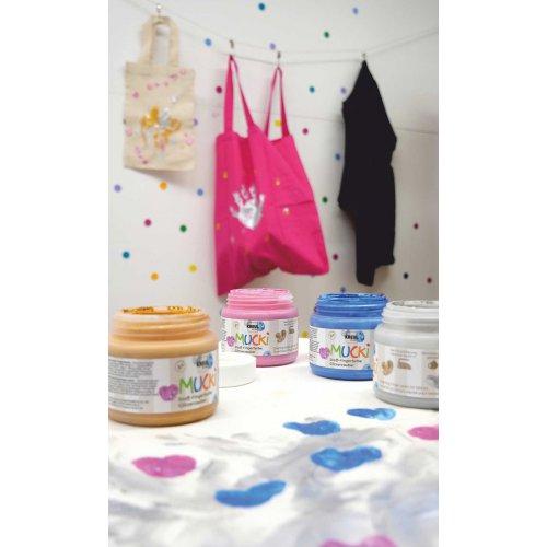 Prstová barva na textil MUCKI třpytivá zlatá 150 ml - MUCKI_Prstove_barvy_textil_trpytive_image7.jpg