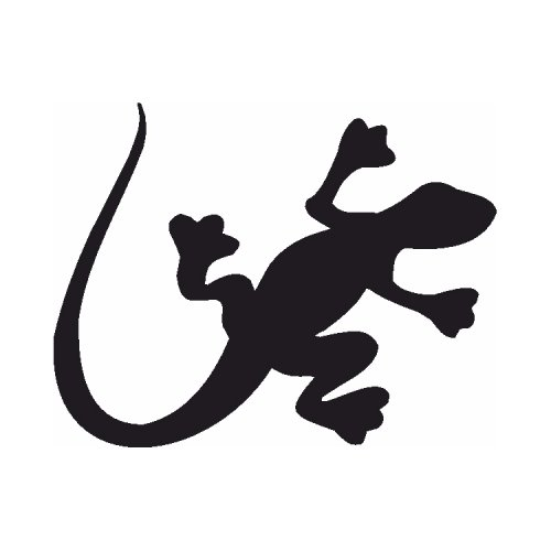 Samolepící šablony - Salamandr