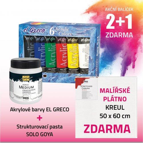 Akční balíček č. 2 - barvy + pasta + plátno