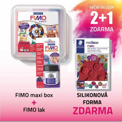 Akční balíček č. 11 - fimo+ fimo lak+ silikonové formy