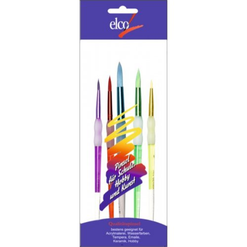 Sada štětců kulatý barevný vlas ergonomický 6+8+10+12+14