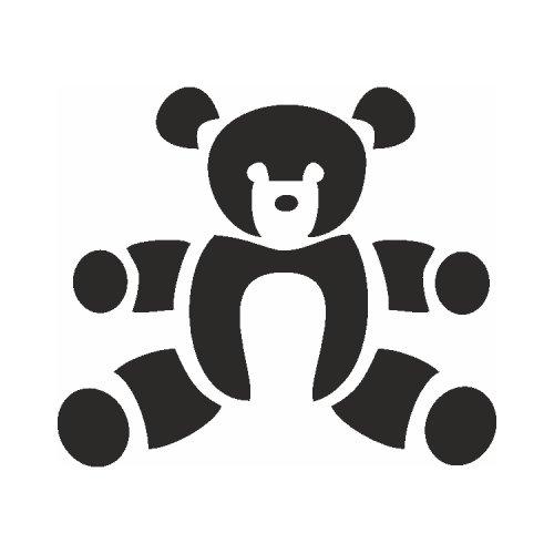 Samolepící šablony - Medvídek
