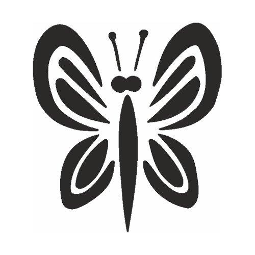 Samolepící šablony - Motýl