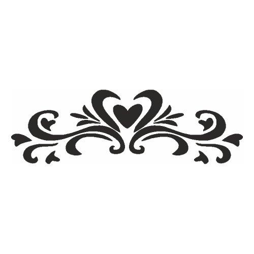 Samolepící šablony - Francouzské srdce