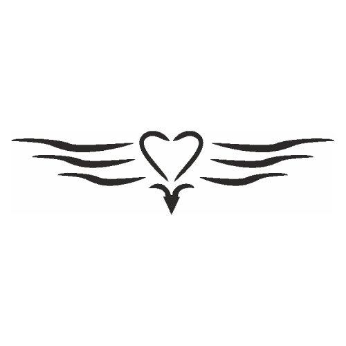 Samolepící šablony - Srdce s linkami