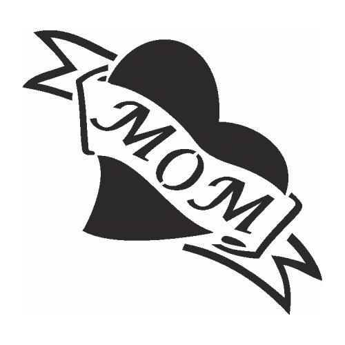 Samolepící šablony - Mom