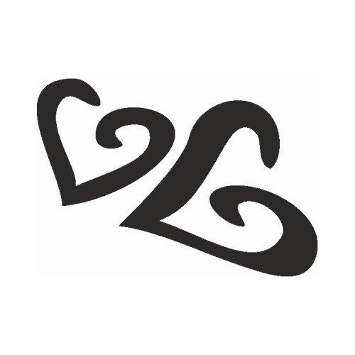 Samolepící šablony - Dvě srdce