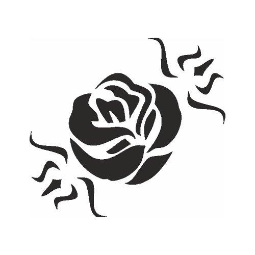 Samolepící šablony - Květ růže
