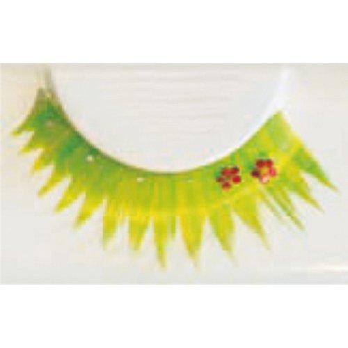 Umělé řasy - Zeleno-žluté s kytičkami