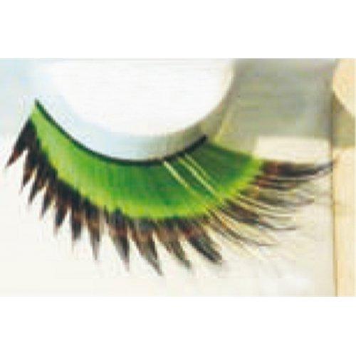 Umělé řasy - Zeleno-černé dlouhé