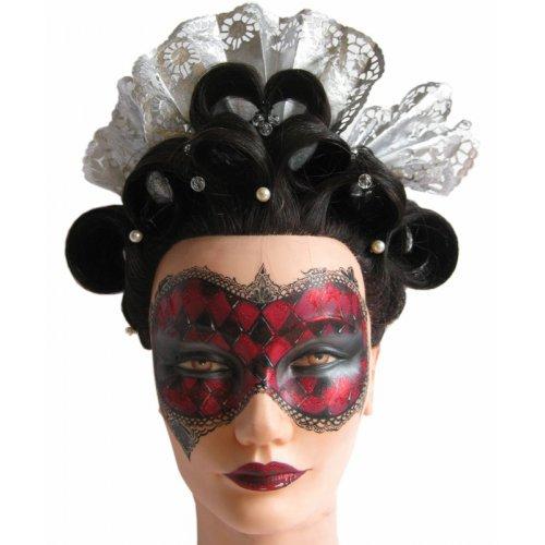 Cvičná hlava na malování - tmavé vlasy