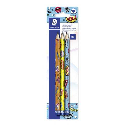 """Grafitová tužka """"Comic"""", 3 různé motivy, HB, trojúhelníkový tvar, jumbo, STAEDTLER"""