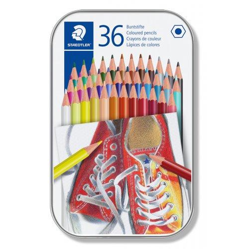 Pastelky, 36 různých barev, sada, šestihranné, STAEDTLER