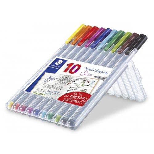 "Liner ""Triplus 334 Box"" sada, 10 barev, 0,3mm, STAEDTLER - 334SB10_01.JPG"