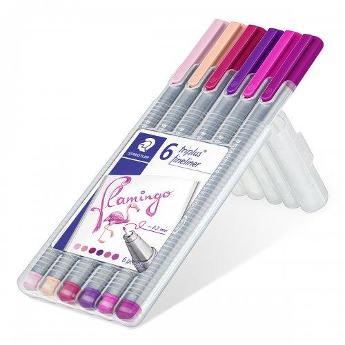 "Linery ""Triplus 334 Flamingo Box"" sada, 6 plameňákových  barev, 0,3mm, STAEDTLER - 334SB6CS6_01.JPG"