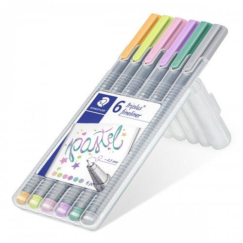 "Liner ""Triplus 334 Box"" sada, 6 barev - pastelové, 0,3mm, STAEDTLER - 334SB6CS1_01.JPG"