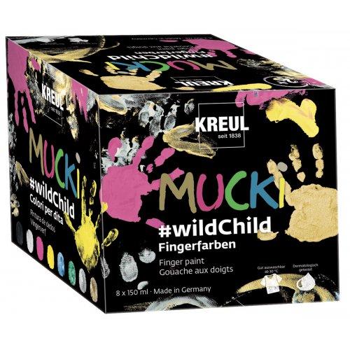 Sada wildChild prstové barvy MUCKI 8 barev