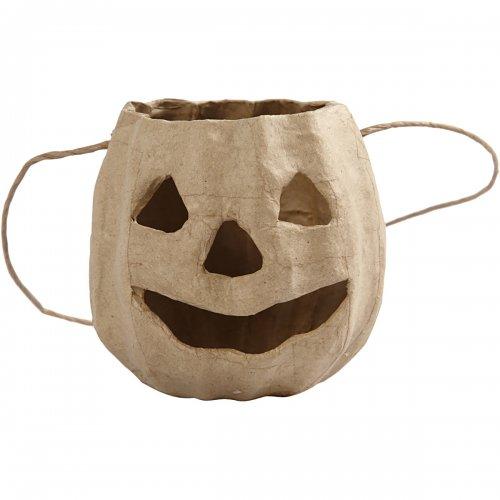Košíček - dýně z papír mache, 8,5 x 9 cm