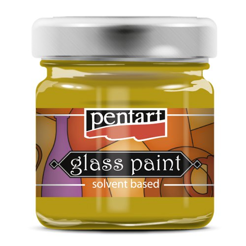 Barva na sklo vitrážová PENTART 30 ml ŽLUTÁ
