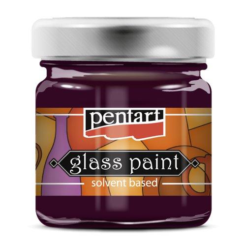 Barva na sklo vitrážová PENTART 30 ml KARMÍNOVÁ