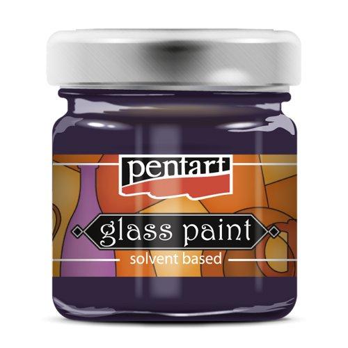Barva na sklo vitrážová PENTART 30 ml PURPUROVÁ