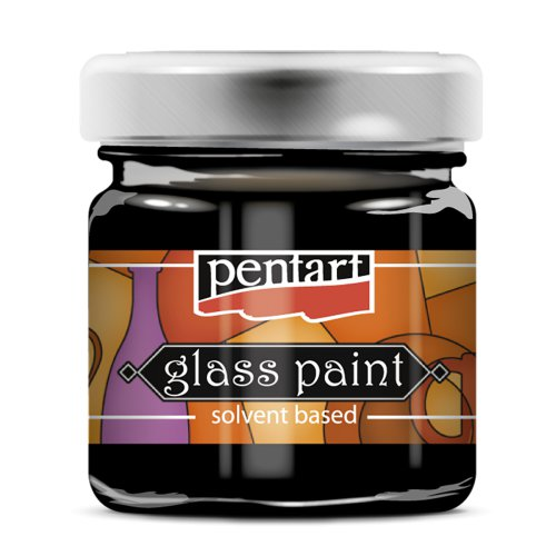 Barva na sklo vitrážová PENTART 30 ml ČERNÁ