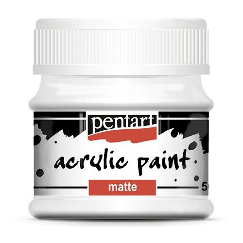 Akrylová barva matná 50 ml BÍLÁ